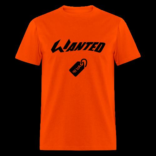 WANTED Tag Black Short-T - Men's T-Shirt