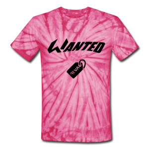 WANTED Tag Black Tie Dye - Unisex Tie Dye T-Shirt
