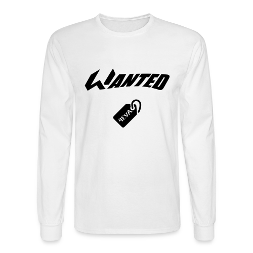 WANTED Tag Black Long-T - Men's Long Sleeve T-Shirt