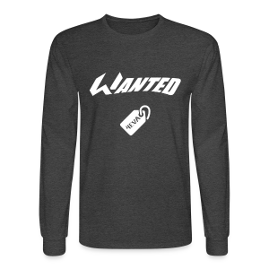 WANTED Tag White Long-T - Men's Long Sleeve T-Shirt