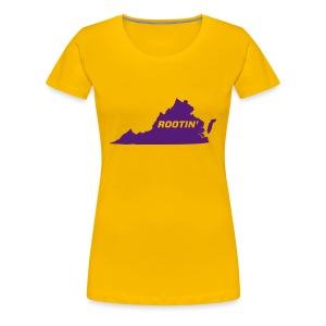 Ladies Rootin' Yellow - Women's Premium T-Shirt