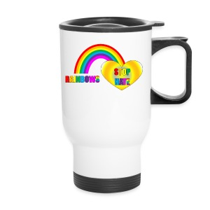 Rainbows Stop Hate Travel Mug -a part of the profits will go to the SPLC thru the end of 2018 - Travel Mug