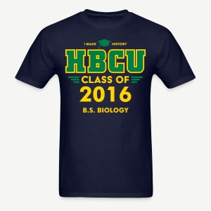 [Editable] HBCU Grad Class - Men's Navy, Green, and Gold T-shirt - Men's T-Shirt