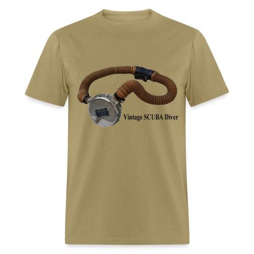 Vintage Double Hose Regulator SCUBA Diver - Men's T-Shirt
