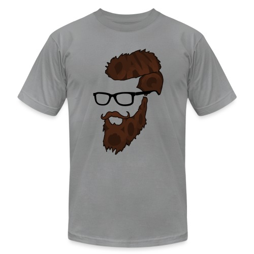DanQ8000 Beard Logo (2017 Edition) - Men's - Men's Fine Jersey T-Shirt