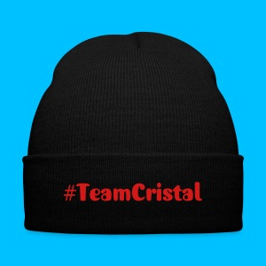 #TeamCristal Knit Hat - Knit Cap with Cuff Print
