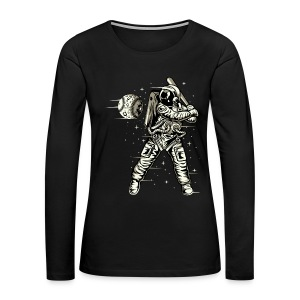 Space Baseball Astronaut - Women's Premium Long Sleeve T-Shirt