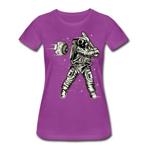 Space Baseball Astronaut - Women's Premium T-Shirt