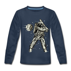 Space Baseball Astronaut - Kids' Premium Long Sleeve T-Shirt