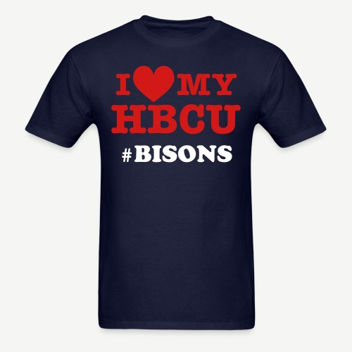 I Love My HBCU with Hashtag - Red White and Blue  [Personalize it] - Men's T-Shirt