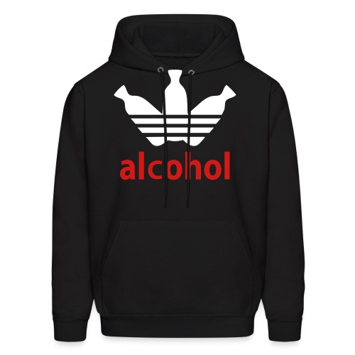 Men's Hoodie - drink up bitches in the back is glow in the dark