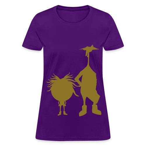 Purple and Gold - Women's T-Shirt