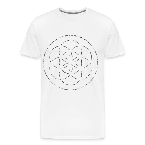 LightSong Lotus Men's T-Shirt - Men's Premium T-Shirt