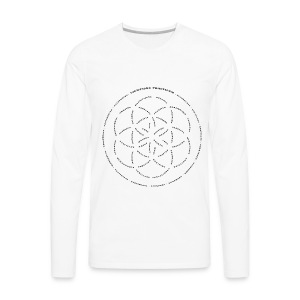 LightSong Lotus Men's Long Sleeve - Men's Premium Long Sleeve T-Shirt