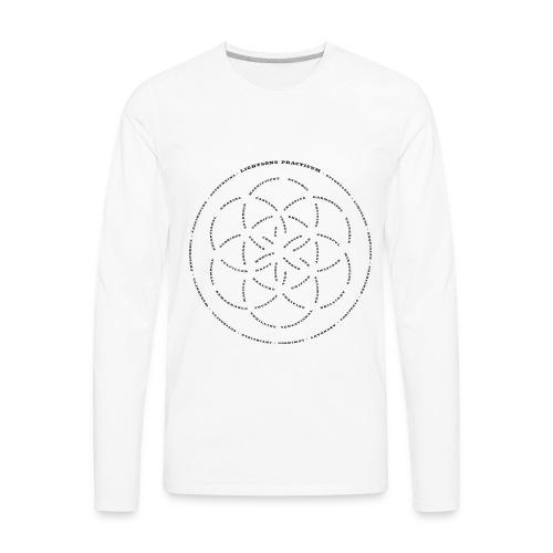 LightSong Lotus Men's Long Sleeve - Men's Premium Long Sleeve T-Shirt