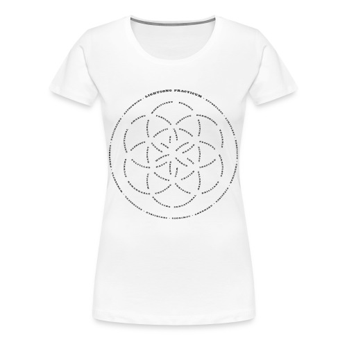 LightSong Lotus Women's T-Shirt - Women's Premium T-Shirt