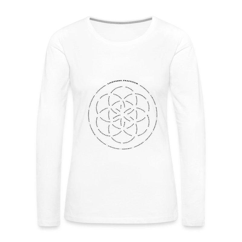 LightSong Lotus Women's Long Sleeve - Women's Premium Long Sleeve T-Shirt