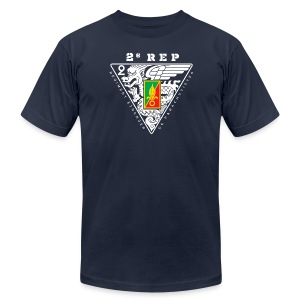 2e REP Badge - Foreign Legion - American Apparel T-Shirt - Men's Fine Jersey T-Shirt