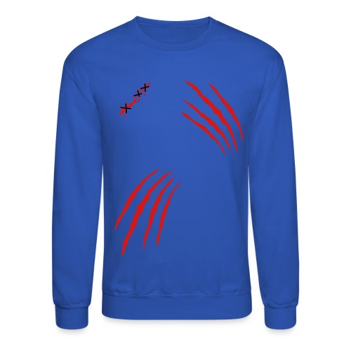 Men's Slashed Sweatshirt - Crewneck Sweatshirt