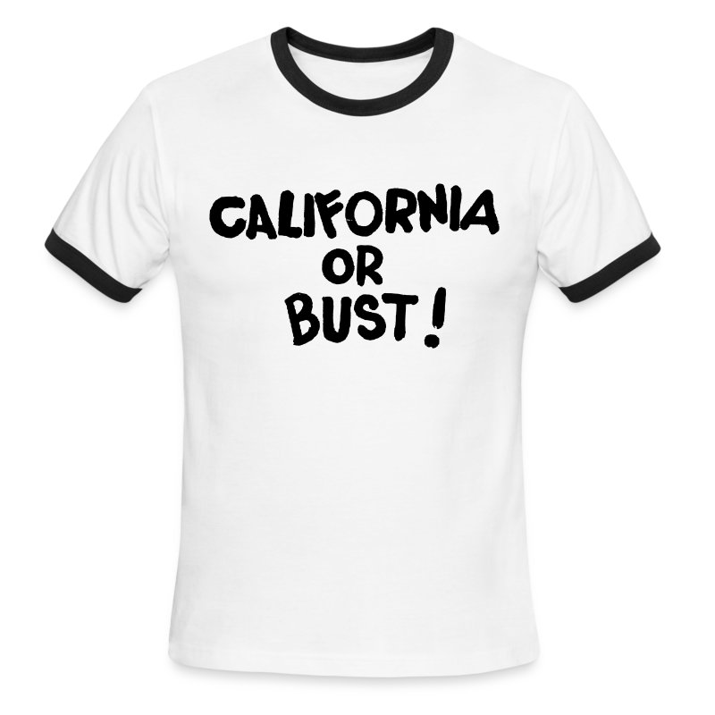 California or Bust! Black - Men's Ringer T-Shirt