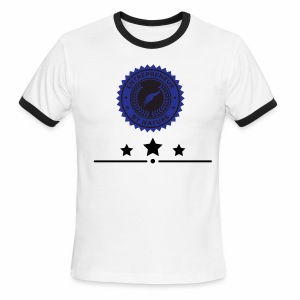 Black & blue Entrepreneur By Nature  Seal - Men's Ringer T-Shirt