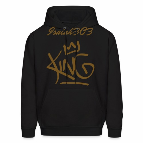 isaiah303 black and gold design - Men's Hoodie
