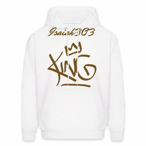 isaiah303 white and gold design  - Men's Hoodie