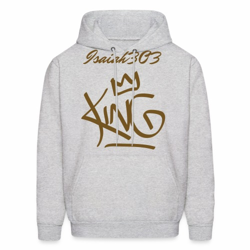 isaiah303 light grey and gold  - Men's Hoodie