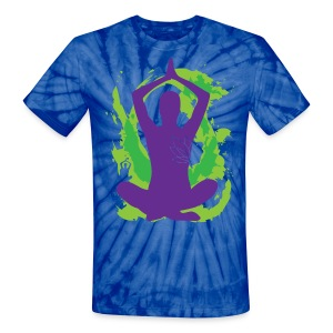Yoga - Peace. Love. Be the Change!  - Unisex Tie Dye T-Shirt