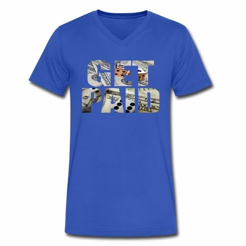 Entrepreneur By Nature Get Paid V Neck - Men's V-Neck T-Shirt by Canvas