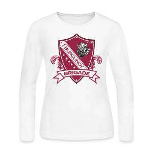 Burgundy Brigade Logo - Ladies - Long Sleeve - Women's Long Sleeve Jersey T-Shirt