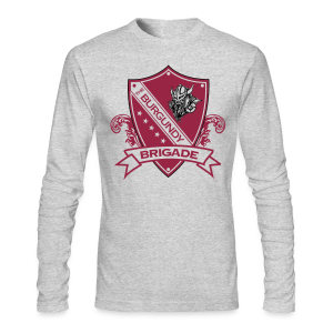 Burgundy Brigade Logo - Mens - Long Sleeve - Men's Long Sleeve T-Shirt by Next Level