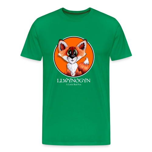 llwynogyn - a little red fox (white) - Men's Premium T-Shirt
