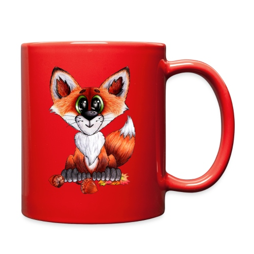 llwynogyn - a little red fox - Full Color Mug