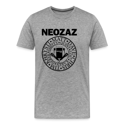 NEOZAZ Philadelphia Founders Logo - Black - Men's Premium T-Shirt