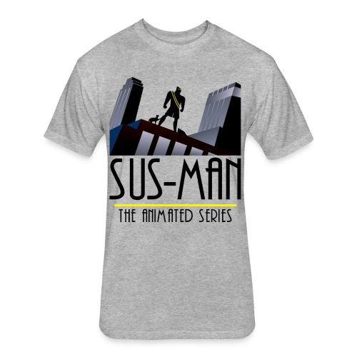 Sus-Man The Animated Series T-Shirt - Fitted Cotton/Poly T-Shirt by Next Level