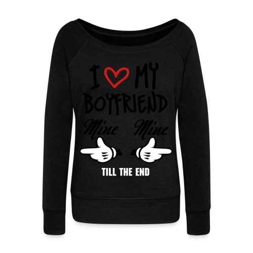 HE's mine - Women's Wideneck Sweatshirt