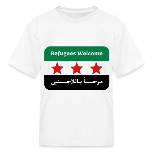 Refugees Welcome Kids' T-shirt - Kids' T-Shirt