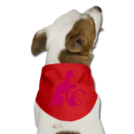 Other ~ Dog Bandana ~ PAWS Logo Pink Dog Bandana