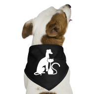 Other ~ Dog Bandana ~ PAWS Logo White Dog Bandana