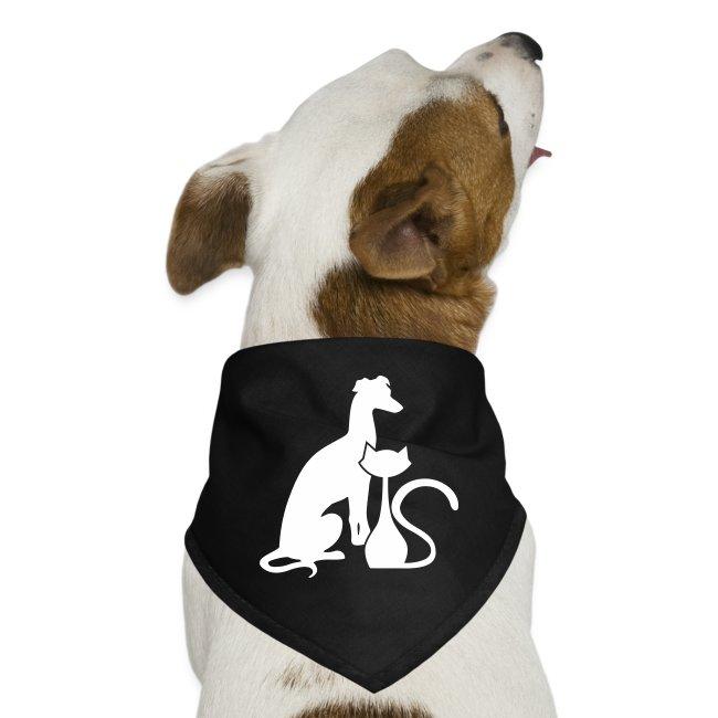PAWS Logo White Dog Bandana