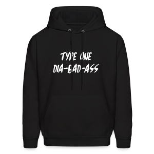 Type One Dia-Bad-Ass (White) - Men's Hoodie