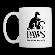 Mugs & Drinkware ~ Coffee/Tea Mug ~ PAWS Logo Black Mug