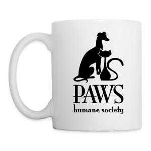 PAWS Logo Black Mug - Coffee/Tea Mug