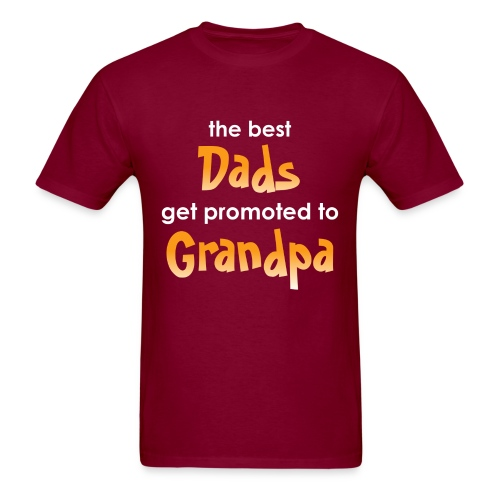 Best Dad Promoted to Grandpa - Men's T-Shirt