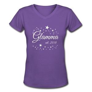 Glamma Established 2018 Vneck Shirt - Women's V-Neck T-Shirt