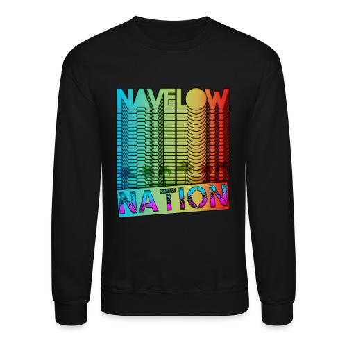 Retro Nation (Crew Sleeve) - Crewneck Sweatshirt