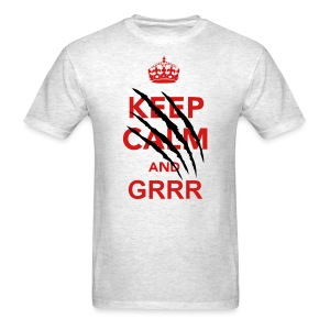 Keep Calm n Grrr Scratch Tee - Men's T-Shirt