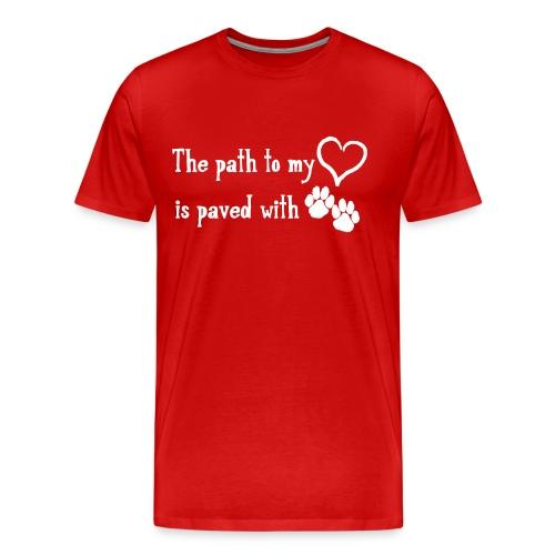The Path to My Heart T - Men's Premium T-Shirt