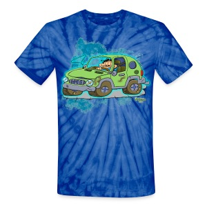 Ongher's UFO Car - Unisex Tie Dye T-Shirt